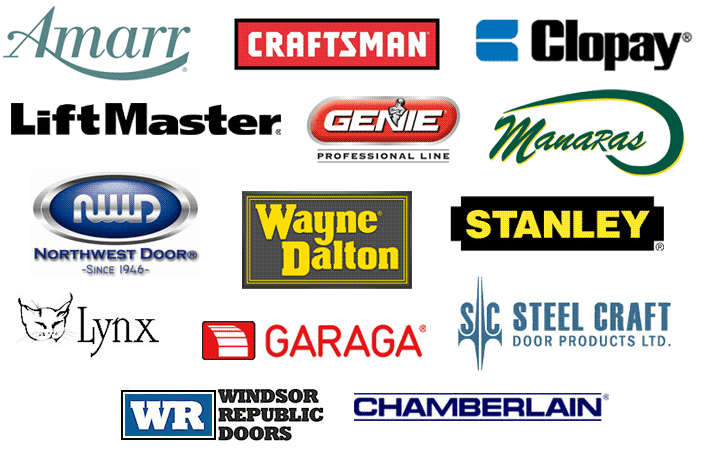 Garage Door Manufacturers - Logos
